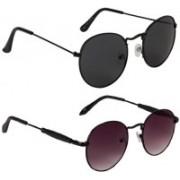 Marabous Round Sunglasses(Violet, Black)