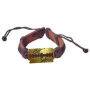 Men Style Brown Blade Shape Bracelet