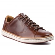 Сникърси CLARKS - Norsen Lace 261278297 Dark Tan Leather