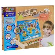 Set Tabla din lemn cu harta lumii