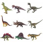 9 piezas Simulación Dinosaurio juguetes de plástico modelo