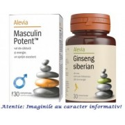 Masculin Potent 30 comprimate + Ginseng Siberian 30 comprimate Alevia
