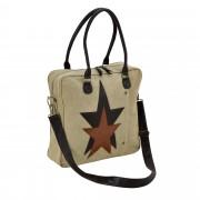 Corium® Дамска чанта от лен 40 x 40 x 10 см.- бежова