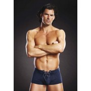 Boxer Lace Up Trunk Azul