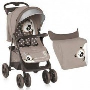 Детска лятна количка с покривало Foxy, Lorelli, Beige Panda, 075668