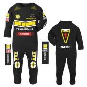 3-Motorcycle Baby grow babygrow romper suit Yamammaha black 100% cotton
