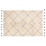 Miliboo Teppich aus natürlicher Baumwolle und Bommeln 110x170cm TANVI