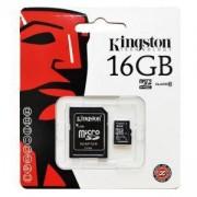 Карта памет Kingston Canvas Select, 16GB, UHS-I, Class 10 (U1), адаптер, KIN-SDCS/16GB