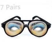 Alcoa Prime 7Pairs Crazy Eyes Glasses Sunglasses Funny Joke Dress Glasses Prank Gag Toys
