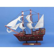 "It Floats Light Blue 21"" - White Sails - Floating Ship Model - Model Sailing Boat - Sail Boat Decoration - Wooden Model Ship - Beach Decor - Floats In Water"