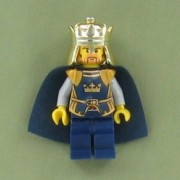 Crown King (No Cape) - LEGO Castle Minifigure
