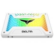 "SSD TeamGroup T-Force Delta, 500GB, SATA III, 2.5"", Iluminare RGB (Alb)"