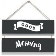 100yellow Good Morning Wall Door Hanging Board Plaque Sign For Wall Dcor (7 X 12 Inch)
