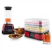 Klarstein Herakles-8G-R, 1800 W, 2 liter, asztali mixer, piros, smoothie, BPA nélkül (Pl-27051-28630)