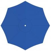 Paramondo Toile de parasol ronde 3,5 m, Interpara, Bleu