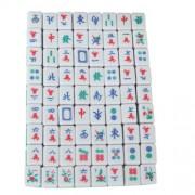 Mini 144 Mahjong Tile Set Travel Board Game Chinese Traditional Mahjong Games, Portable Size and Lig