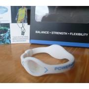Balanční náramek s hologramem Power Balance - bílý-modrý