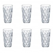 Koziol CRYSTAL L Högt glas - 6-pack - Crystal clear