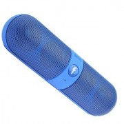 Bluetooth Speaker with FM Pendrive Stereo Pill Shaped Works with all PC/Laptop/Mobile Android or all Device