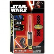 Star Wars Series 7 Lightsaber (Light Saber) Clip-On Action Lites; Complete Set of All Three Lights--Yoda Darth Vader & Luke