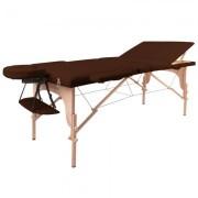 Masa din lemn pentru masaj inSPORTline Japane - din 3 bucati maro