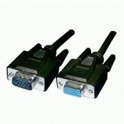 Cavo prolunga monitor SVGA standard M/F 4,5 mt NERO