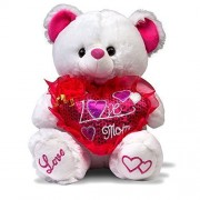 "Mothers Day Gift , Musical ""I Love Mom"" Teddy Bear with Pink Heart (""15) Plays ""The Love Song"" - Bes"