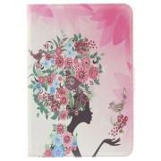 Bling Folio Tas - iPad Mini, iPad Mini 2, iPad Mini 3 - Meisje / Bloemen