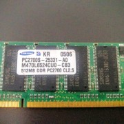 12MB SAMSUNG M470L6524CUO-CB3 512MB DDR PC2700 CL2.5 LAPTOP RAM / MEMORY (EUC)