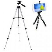 Pachet Trepied foto telescopic Weifeng WT-3110A universal 35-102 cm husa inclusa + Trepied flexibil cu suport pentru telefon mobil sau