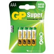 Baterie alcalina R3 (AAA) 4 buc/blister Super GP