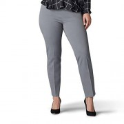 Lee Pantalón Ajustado para Mujer (Talla Grande), Verde Gris, 40 Chiquita