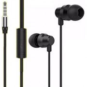 BELL Metal Headset In-Ear Headphones with Universal Mic with Converter - Black