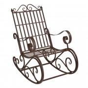 [casa.pro] Градински люлеещ се стол, 92 x 59 x 90 cm vintage Кафяв