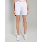 TOM TAILOR Alexa Slim Bermuda Shorts, Dames, White, 26