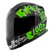 Casco Integral Ss1310 Speed & Strength Biker Blood Green / Black