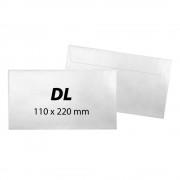Plic DL, 110 x 220 mm, alb, banda silicon, 80 g/mp, 1000 bucati/cutie