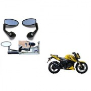 Kunjzone Premium Quality Motorycle Bar End Mirror Rear View Mirror Oval for TVS Apache RTR 160