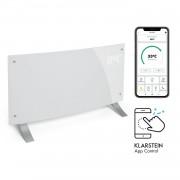 Klarstein Bornholm Curved Smart, конвекционен нагревател, 2000 W, регулиране с приложение, бял (ACO7-BrnhlmCrvdSmrtW)