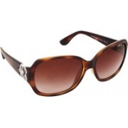 Vogue Rectangular Sunglasses(Brown)