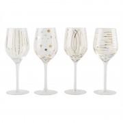 Lot de 4 verres à vin cheers or Mikasa