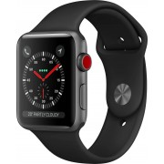 Apple Mth22ql/a Smartwatch Orologio Fitness Display Oled Touch Screen Cardiofrequenzimetro 16 Gb 3g 4g Gps Wifi Bluetooth Ios 11.0 Colore Nero - Mth22ql/a Watch Serie 3