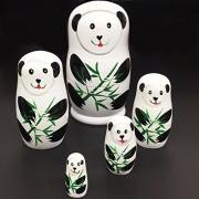 Russian Nesting Dolls, LIMNUO Panda Wooden Russian Nesting Dolls Matryoshka Wood Nested Stacking Dolls