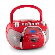 Auna Beegirl Rádio Gravador CD MP3 USB - vermelho