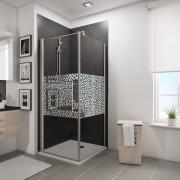 Schulte Home Porte de douche pivotante + paroi latérale 80 x 80 cm, anticalcaire