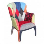 Fotoliu tapitat cu stofa Kaleidos-C Multicolor, l78xA74xH102 cm