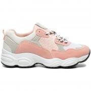 Dad Sneakers Hoge Zool Roze - Sneakers