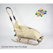 Saniuta pentru copii Kummer Winter Glam Plus Beige
