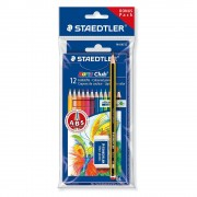 Creioane colorate 12 culori/set STAEDTLER Noris + creion grafit si radiera