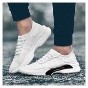 Hombres Zapatos Deportivos Transpirables Para Correr - Blanco